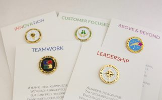 Appreciation Cards with Lapel Pin